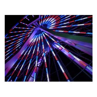 夜のサンタモニカ桟橋の観覧車 ポストカード
