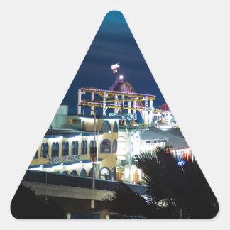 夜のサンタモニカ 三角形シール