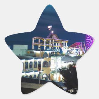夜のサンタモニカ 星シール