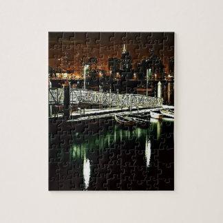 夜のサンディエゴのスカイライン ジグソーパズル