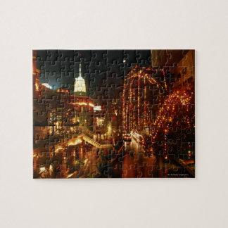 夜のサン・アントニオRiverwalk ジグゾーパズル