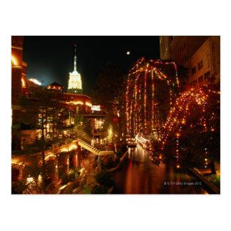 夜のサン・アントニオRiverwalk ポストカード