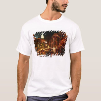 夜のサン・アントニオRiverwalk Tシャツ