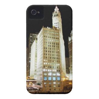 夜のシカゴの有名な陸標 Case-Mate iPhone 4 ケース