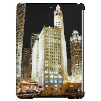 夜のシカゴの有名な陸標 iPad AIRケース