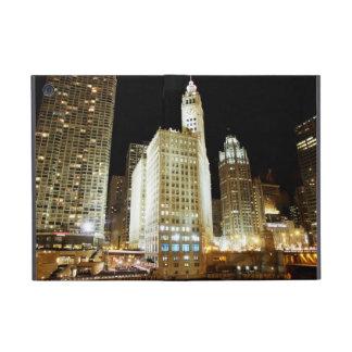 夜のシカゴの有名な陸標 iPad MINI ケース