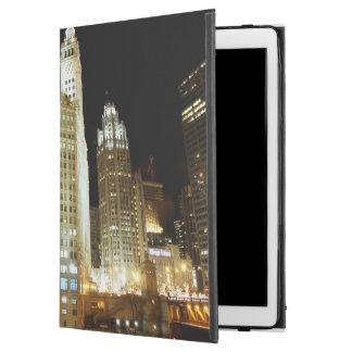 """夜のシカゴの有名な陸標 iPad PRO 12.9"""" ケース"""