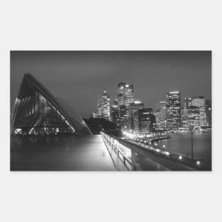 夜のシドニー・オペラハウス 長方形シール