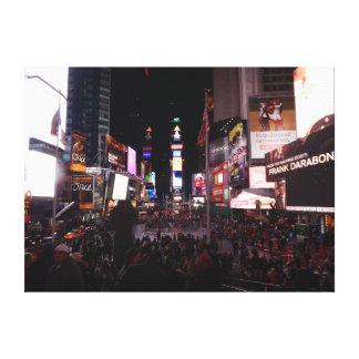 夜のタイムズ・スクエア キャンバスプリント