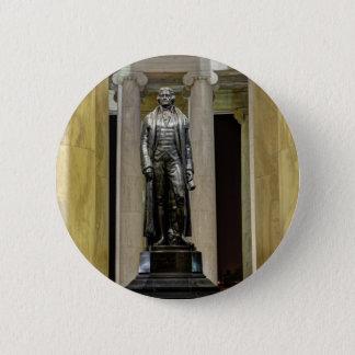 夜のトーマス・ジェファーソンの記念の彫像 缶バッジ