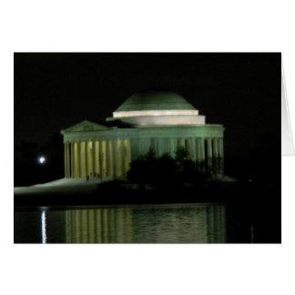 夜のトーマス・ジェファーソンの記念物 カード
