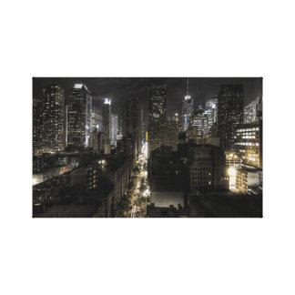 夜のニューヨークシティ キャンバスプリント