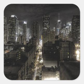 夜のニューヨークシティ スクエアシール