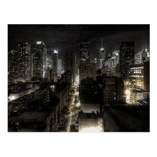 夜のニューヨークシティ ポストカード