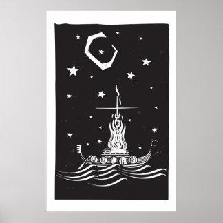 夜のバイキングの葬式 ポスター