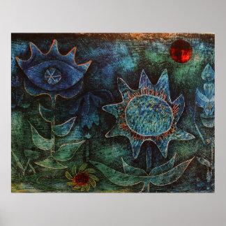 夜のパウル・クレーの花 ポスター