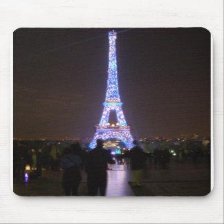 夜のパリエッフェル塔 マウスパッド