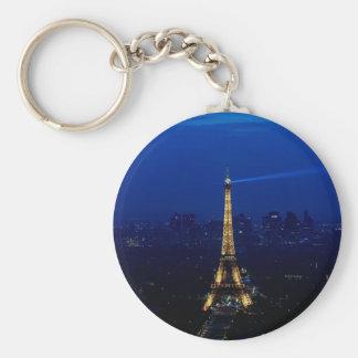 夜のパリEifelタワー キーホルダー