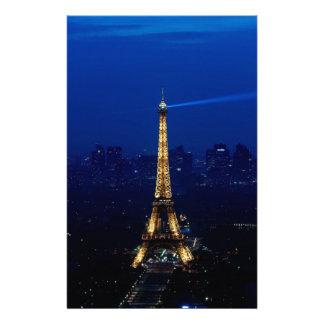 夜のパリEifelタワー 便箋