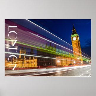 夜のビッグベン、ロンドン ポスター