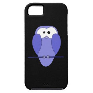 夜のフクロウ。 青、黒 iPhone SE/5/5s ケース