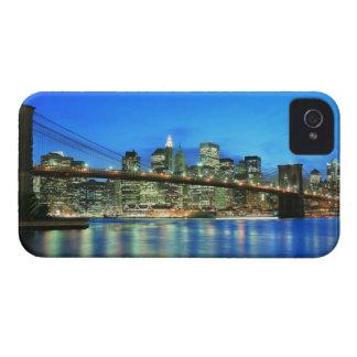 夜のブルックリン橋そしてマンハッタンスカイライン Case-Mate iPhone 4 ケース