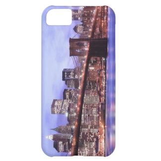 夜のブルックリン橋そしてマンハッタンスカイライン iPhone5Cケース