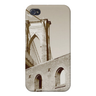 夜のブルックリン橋そしてマンハッタンスカイライン iPhone 4/4S カバー