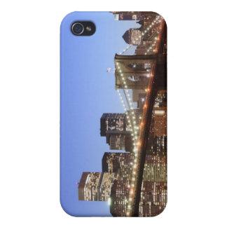 夜のブルックリン橋そしてマンハッタンスカイライン iPhone 4/4S CASE