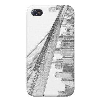 夜のブルックリン橋そしてマンハッタンスカイライン iPhone 4/4S COVER