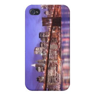 夜のブルックリン橋そしてマンハッタンスカイライン iPhone 4 COVER