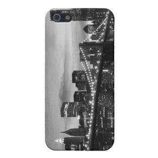 夜のブルックリン橋そしてマンハッタンスカイライン iPhone 5 ケース