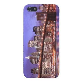 夜のブルックリン橋そしてマンハッタンスカイライン iPhone 5 CASE