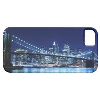 夜のブルックリン橋そしてマンハッタンスカイライン iPhone SE/5/5s ケース