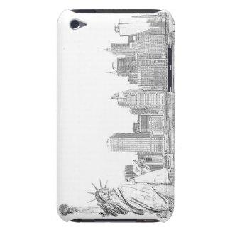 夜のブルックリン橋そして自由の女神 Case-Mate iPod TOUCH ケース
