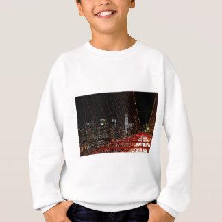 夜のブルックリン橋 スウェットシャツ