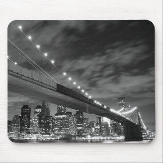 夜のブルックリン橋、ニューヨークシティ マウスパッド