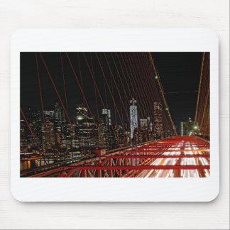 夜のブルックリン橋 マウスパッド