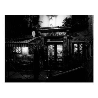 夜のベニスのレストラン ポストカード