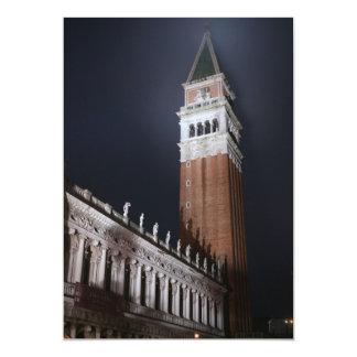 夜のベニスサンMarcoタワー カード