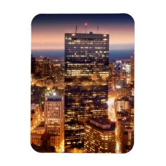 夜のボストンの概観 マグネット