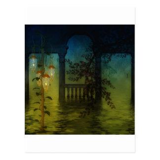 夜のボートハウス ポストカード