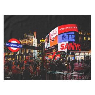 夜のロンドンのファンタジー白熱Piccadilly テーブルクロス