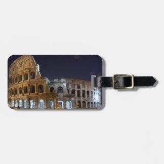 夜のローマのColosseum ラゲッジタグ