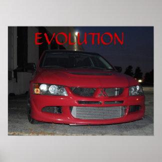 夜の三菱進化 ポスター