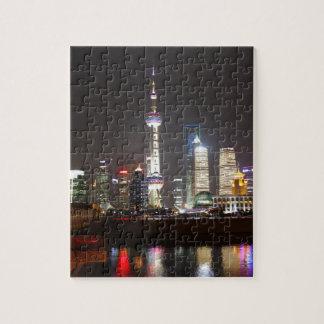 夜の上海の反射 ジグソーパズル
