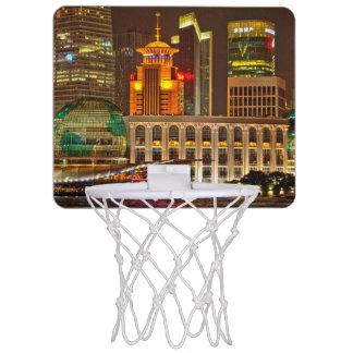 夜の上海 ミニバスケットボールゴール