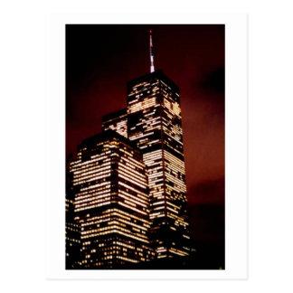 夜の世界貿易センター ポストカード