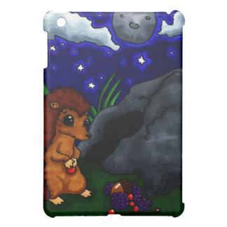 夜の孤独なハリネズミ iPad MINIケース
