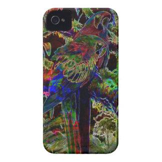 夜の熱帯楽園のコンゴウインコ Case-Mate iPhone 4 ケース
